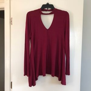 Tunic Choker Collar Top